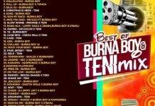 DJ sagacious best of burna boy and teni mix