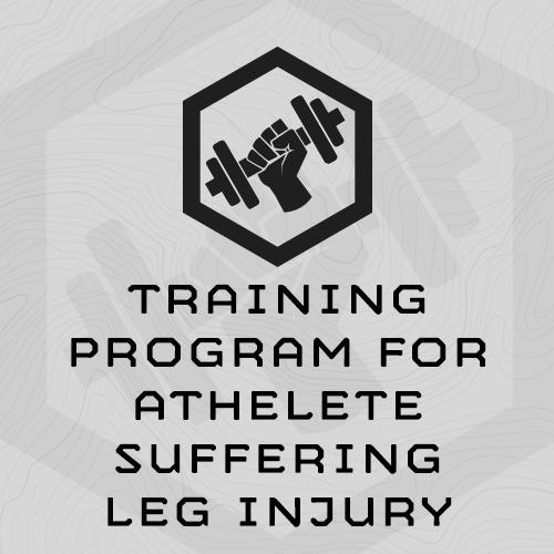 Training Program for Athletes Suffering from Leg Injury