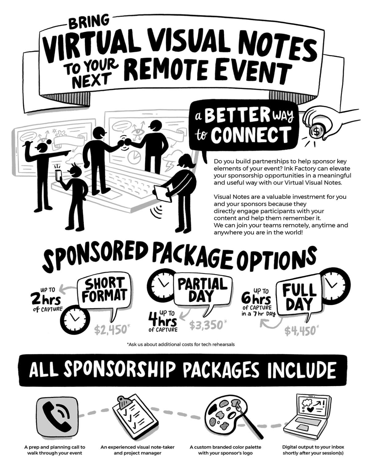 Virtual Event Sponsorship Options