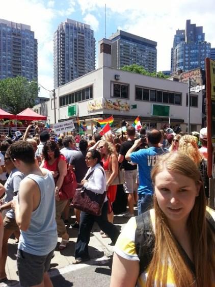 At the parade!