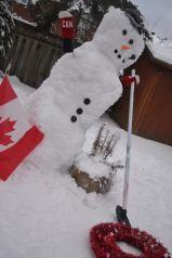 Curler Snowman