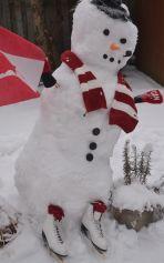Figure Skater Snowman