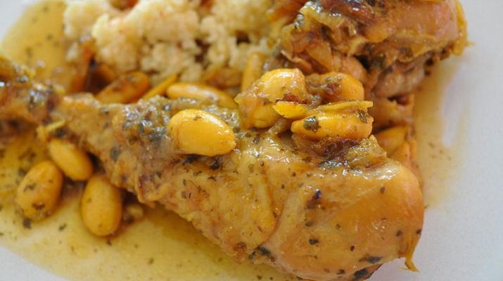 poulet aux amandes oignons maroc tajine