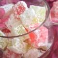 Recette loukoums à l'eau de rose Djolo Cuisine