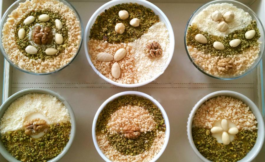Assida Boufriwa creme de noisette Djolo Tunisie Cuisine