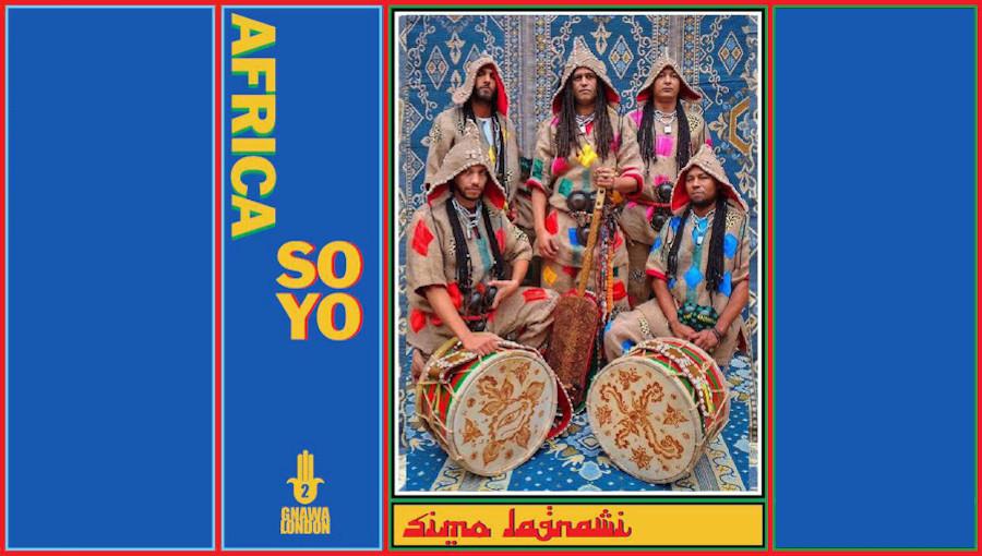 Africa Soyo, Gnawa London, Simo Lagnawi, gnawa anglais, maroc, musique marocaine, gnawa, afrisoy, maalem, transe, nouvel album