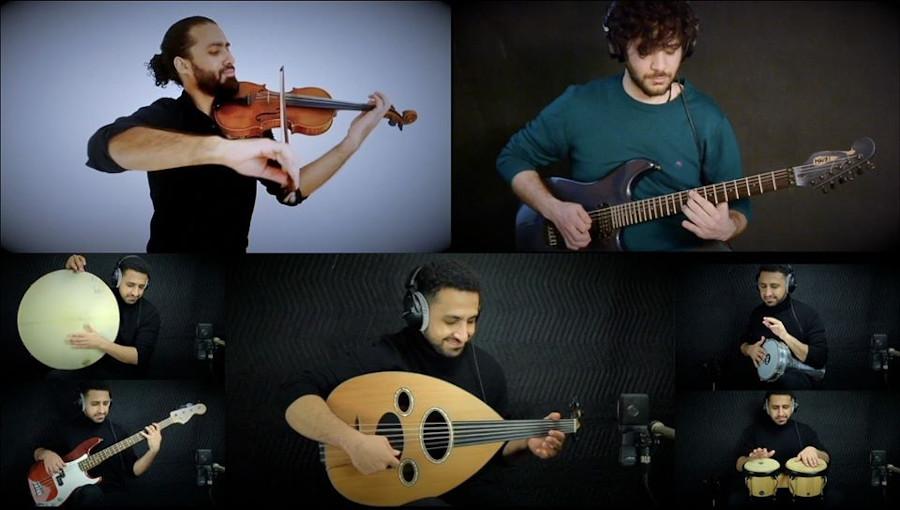 Ahmed Alshaiba, Mazen Samih, Ahmed Mounib, Khaled, Rachid Taha, Faudel, reprise, cover, Abdel Kader, 1 2 3 Soleil
