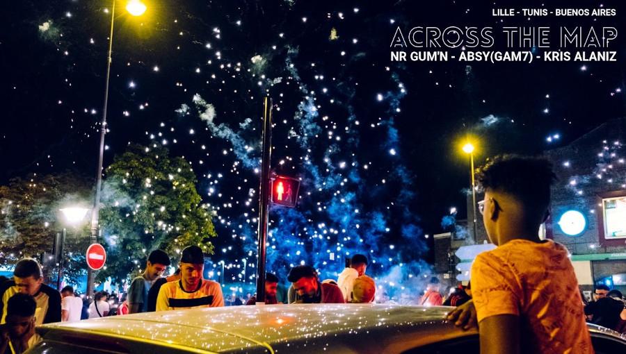 Lille, Tunis, Buenos Aeres, Isam Absy, NR GUMN, rap, Kris Alaniz, labo 148, sophie bourlet, gam7, nouvelles cartographies, Across the map