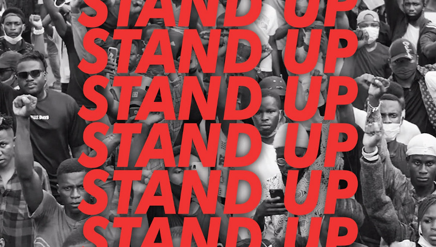 Stand Up, Avi Dje, Rebiere, INI MOvement, nouveau titre, nouveau clip, ENdSARS, SARS, chanteur nigerian, label hollandais, Jo Bissa