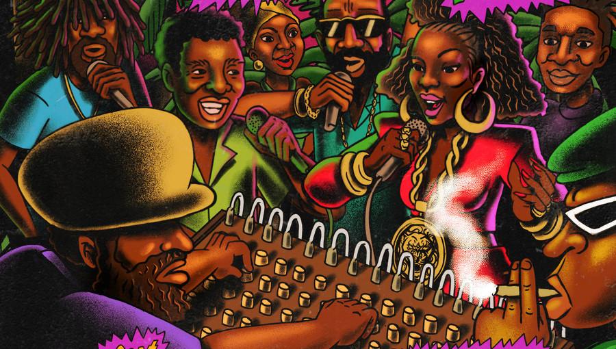King Kong, Foxy Brown, Conrad Crystal, Daddy Shark, Glenn Ricks, Palenque Rockers, Palenque Records, Palenque Rockers Vol.2, reggae, dancehall, sound system, ChampetaMan, Lucas Silva