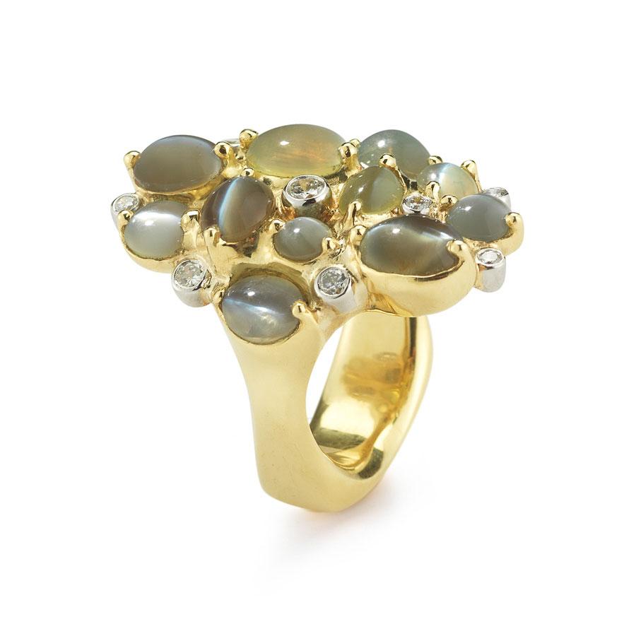 Cats Eye Chrysoberyl Ring Ind0975  Dejonghe Original Jewelry