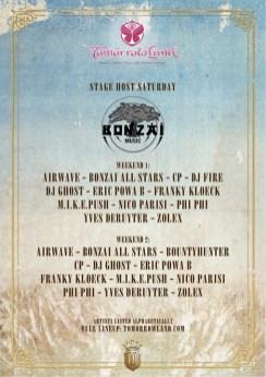 line up bonzai stage @ tomorrow land 2014