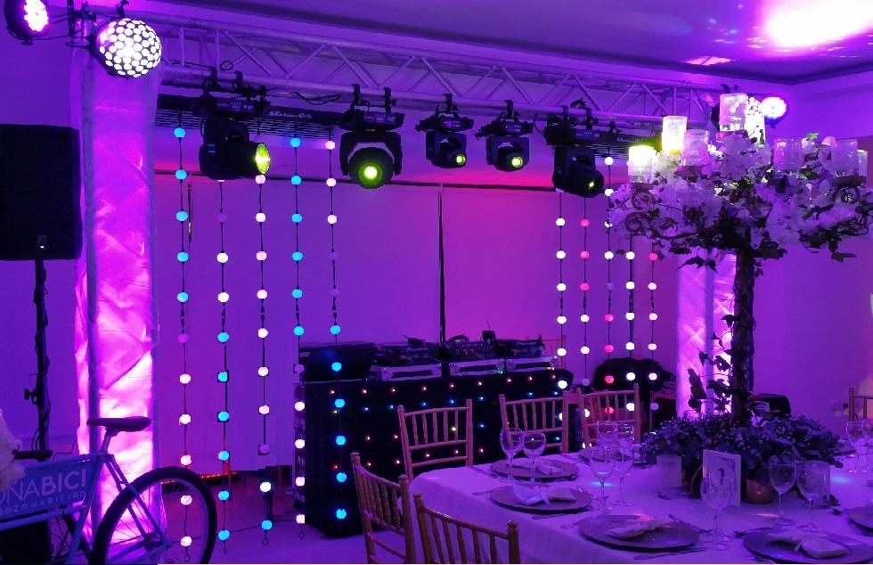 Dj Plex  Montajes e iluminacin para eventos en general  DiscJockey iluminacin truss techos luces LED confetis visuales pantallas