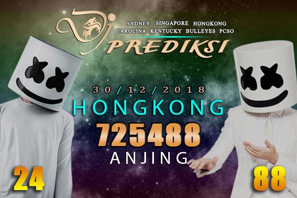 Prediksi Togel HONGKONG 30 Desember 2018
