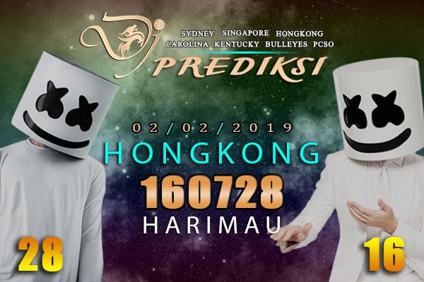 Prediksi Togel HONGKONG 2 Februari 2019 Hari Sabtu