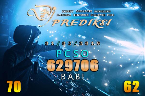 Prediksi Togel PCSO 1 Februari 2019 Hari Jumat