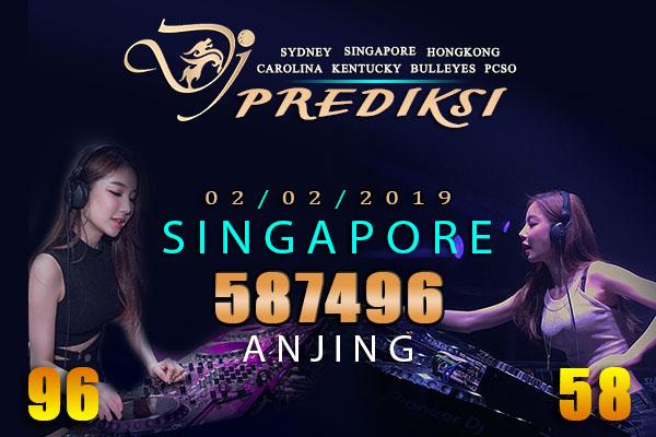 Prediksi Togel SINGAPORE 2 Februari 2019 Hari Sabtu