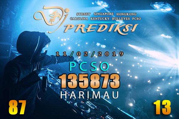 Prediksi Togel PCSO 11 Februari 2019 Hari Senin