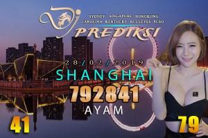 Prediksi Togel SHANGHAI 28 Februari 2019 Hari Kamis