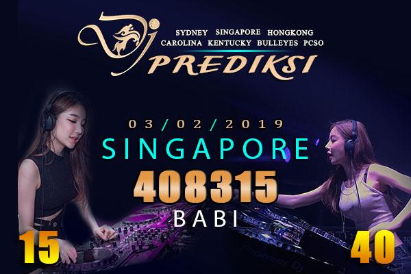 Prediksi Togel SINGAPORE 3 Februari 2019 Hari Minggu