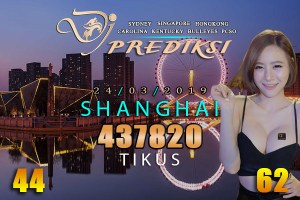 Prediksi Togel SHANGHAI 24 Maret 2019 Hari Minggu