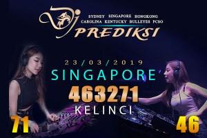 Prediksi Togel SINGAPORE 23 Maret 2019 Hari Sabtu