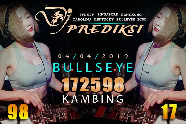 Prediksi Togel BULLSEYE 4 April 2019 Hari Kamis