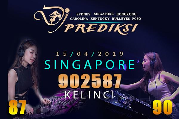 Prediksi Togel SINGAPORE 15 April 2019 Hari Senin