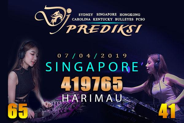 Prediksi Togel SINGAPORE 7 April 2019 Hari Minggu