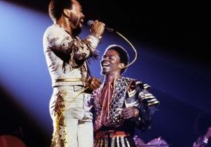Maurice White and Philip Bailey of Earth, Wind & Fire