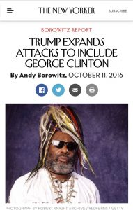 This fake news story about Donald Trump and George Clinton ran during the presidential campaign in October.