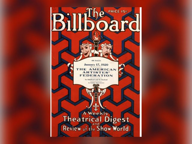 Billboard Magazine from 100 years ago:  Minstrels, vaudeville, burlesque and more…
