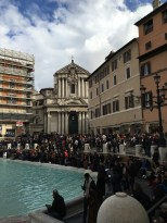 Trevi Fountain is always packed.