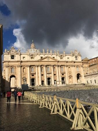 Basillica de San Pietro getting ready for Easter services