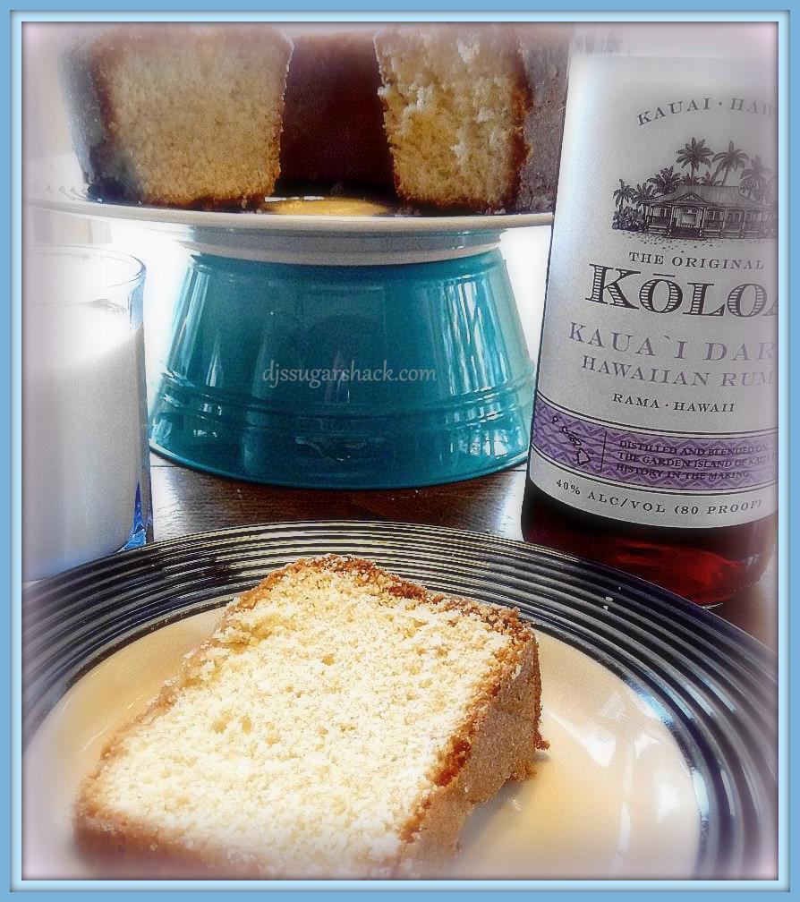 Eggnog Pound Cake With Rum Glaze