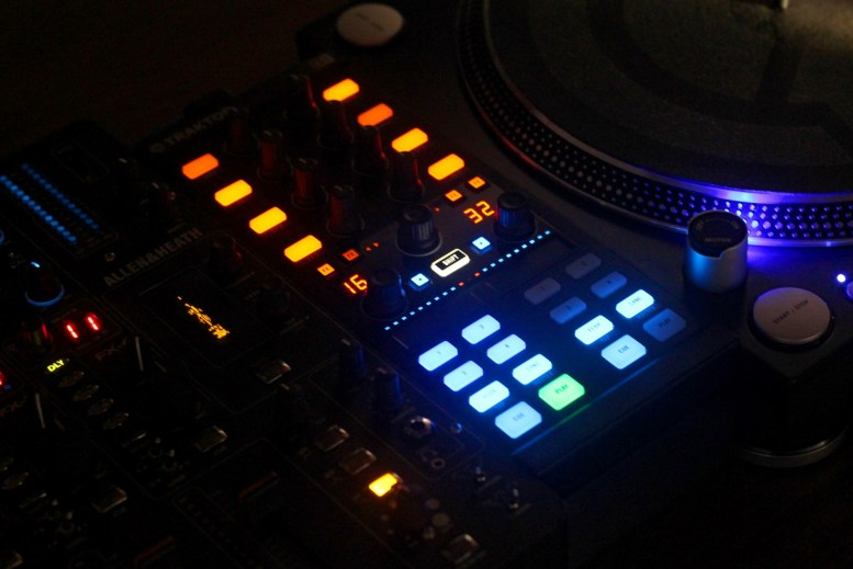 The Kontrol X1 in a club lighting environment.