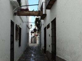 Narrow streets in the old town