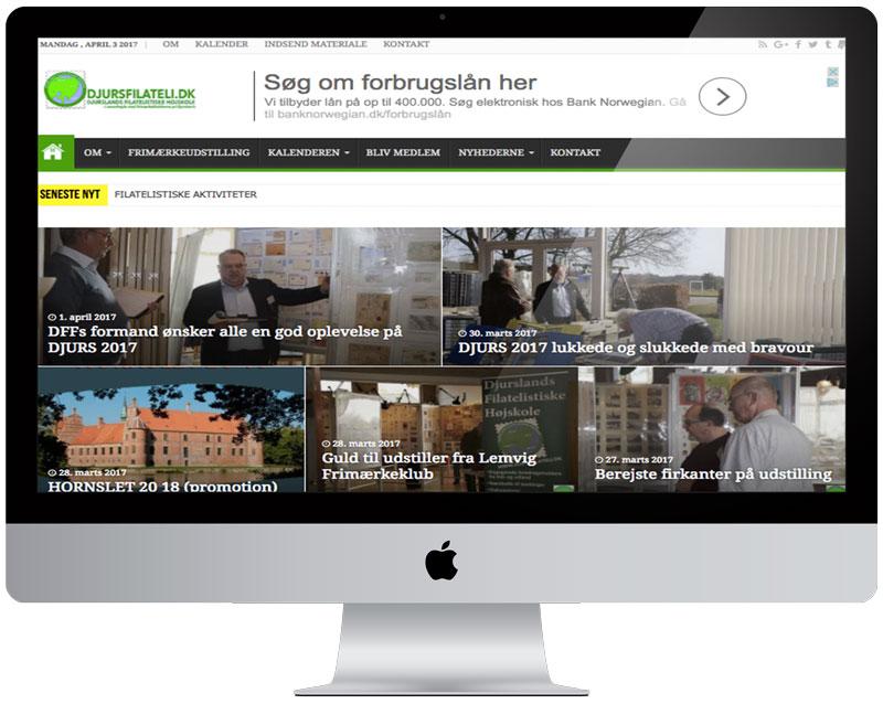 'FORSIDEN' - giver brugerne et hurtigt overblik over seneste nyheder og brugervenlige menuer.
