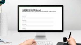 'INDSEND MATERIALE' - du behøver ingen kundskaber i hjemmeside programmering eller it-kundskaber. Hvis du vil indsende en artikel eller reklamere for din hjemmeside i medlemsform skal du blot udfylde en formular.