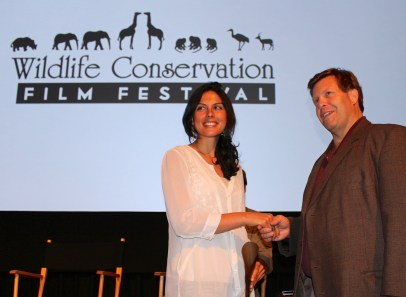 Danielle accepting an award from Christopher Gervais, WCFF President © Robin Erler