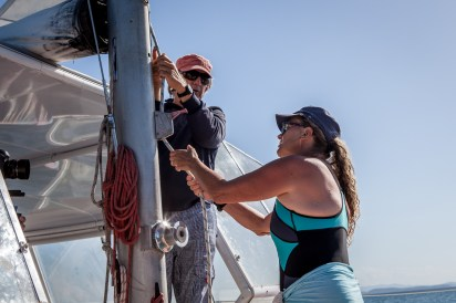 Yacht owners Anthony and Ginny, Keppel Islands ©Danielle Ryan - Bluebottle Films