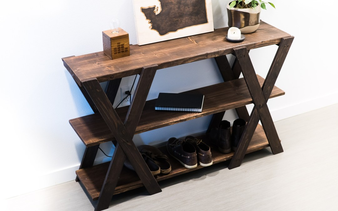 How to Build a Rustic Console Table