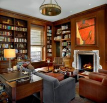 Home Library Study Interior Design
