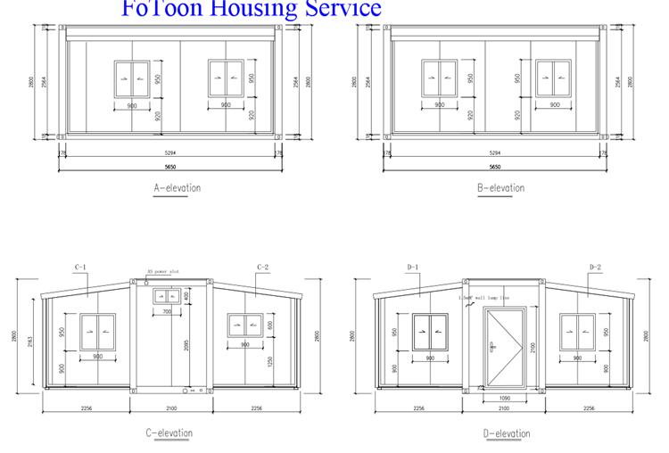 Kina Billige Udvideligt Containerhus med køkken og