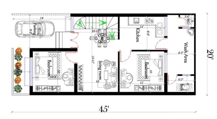 20x45 house plan
