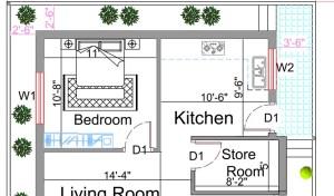 1500 square feet house plan
