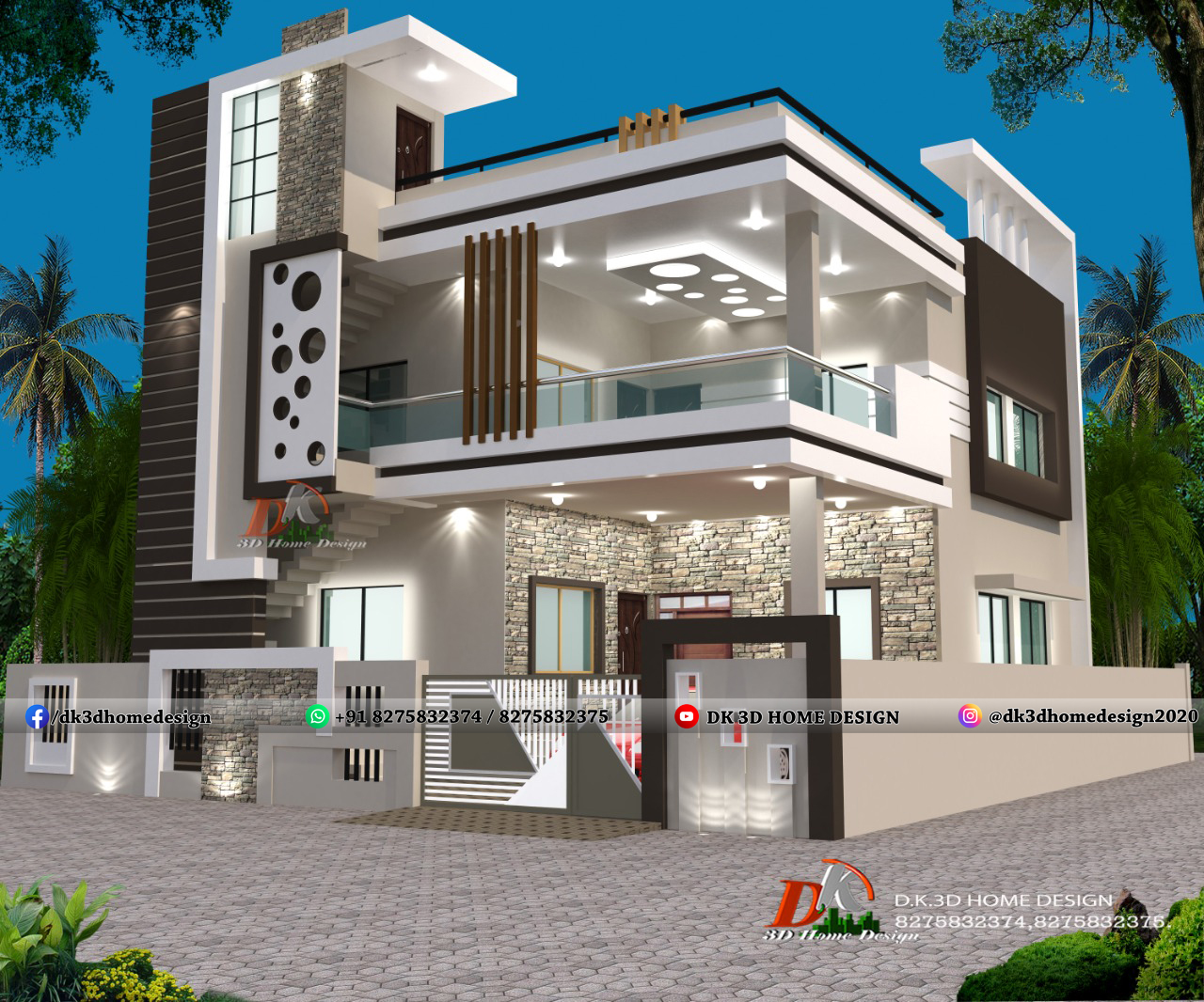 Indian House Design  20+ House Front Design Indian Style LATEST