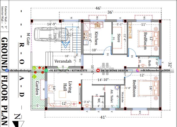 30x45 house plan