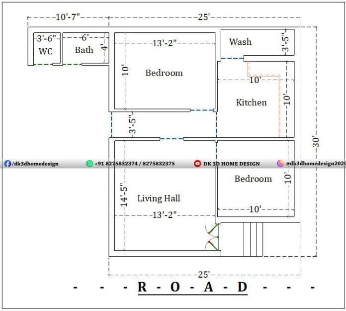 25x40 village house plan