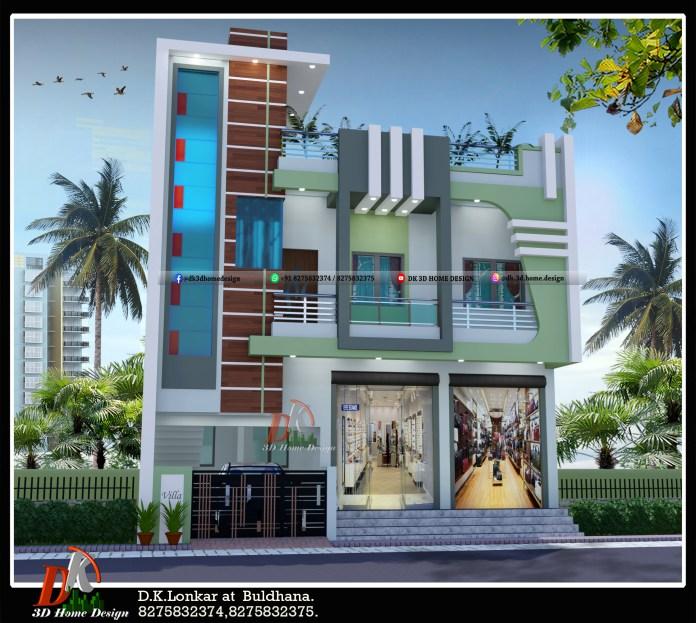 1200 sq ft 2 story house design